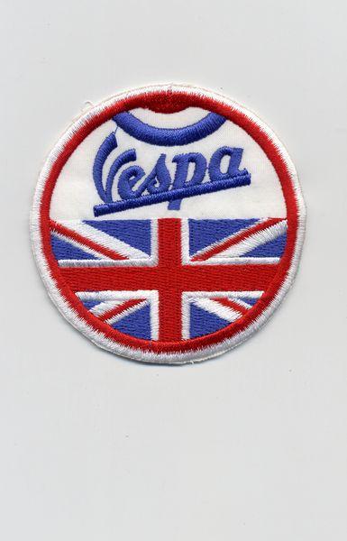 Vintage Style Vespa Patch Great Britain UK Union Jack 7cm