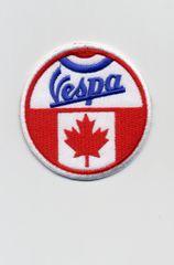 Vintage Style Vespa Patch Canada Flag 7cm