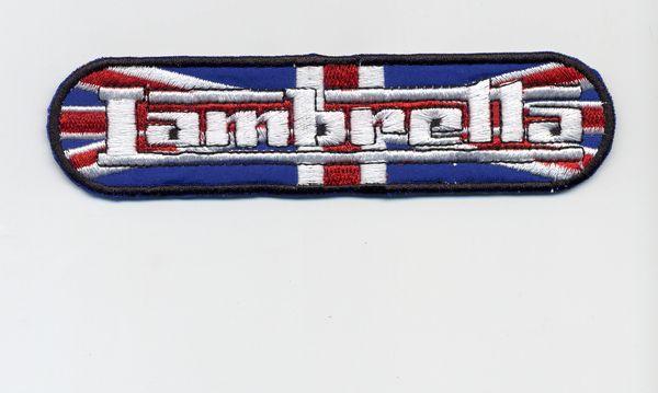 Vintage Style Lambretta Patch UK Union Jack Flag 12cm