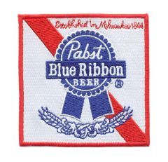 Vintage Style Pabst Blue Ribbon PBR Beer Patch 9cm x 9cm