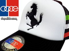 smartpatches Prancing Horse Vintage Style Trucker Hat Italian Colors