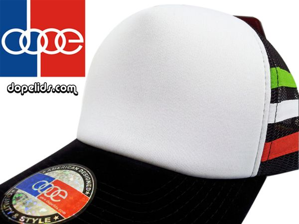 """smARTpatches """"Italian Stripes"""" Vintage Style Trucker Hat by dopelids"""