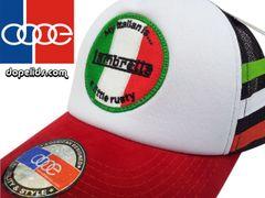 "smartpatches ""Lambretta"" Vintage Style Scooter Trucker Hat (Italian Stripes)"