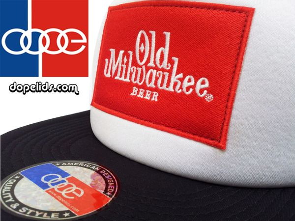 smartpatches Old Milwaukee Trucker Hat (Black and White)