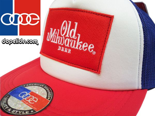 smartpatches Old Milwaukee Trucker Hat (Red, White and Blue)