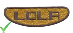 Lola Racing Patch 9.5cm (2 Sizes Available)