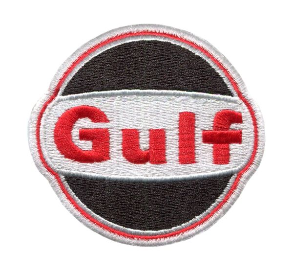 Gulf Oil LeMans Patch 7cm Special Black and Red