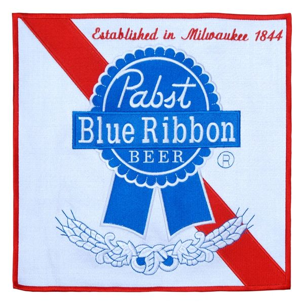 Pabst Blue Ribbon PBR XXL 30cm Vintage Style Beer Patch (30cm x 30cm)