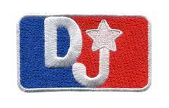 DJ Silhouette Hip Hop Patch 8cm x 5.5cm