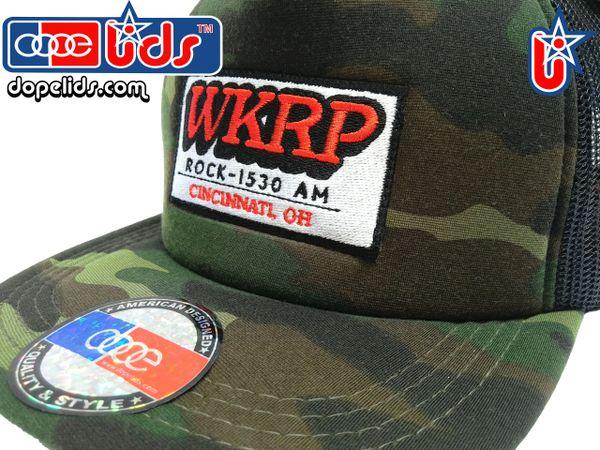 Vintage Style WKRP in Cincinnati Trucker Hat (Camo)