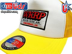 Vintage Style WKRP in Cincinnati Trucker Hat (Yellow)