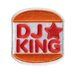 DJ King Hip Hop Patch 8cm x 7cm