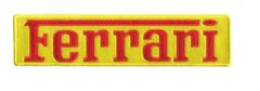Ferrari XXL Script Patch Red on Yellow 25cm x 6cm