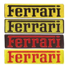 Ferrari XXL Script Patch 25cm x 6cm (4 colors to choose from)