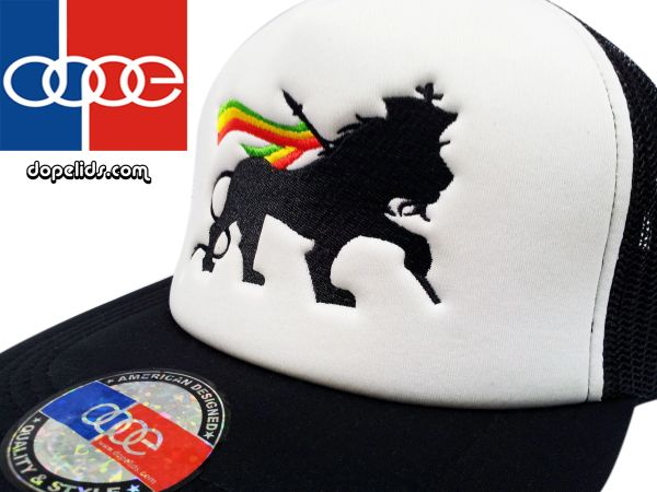 "smartpatches ""Lion of Judah"" Rasta Vintage Style Trucker Hat"