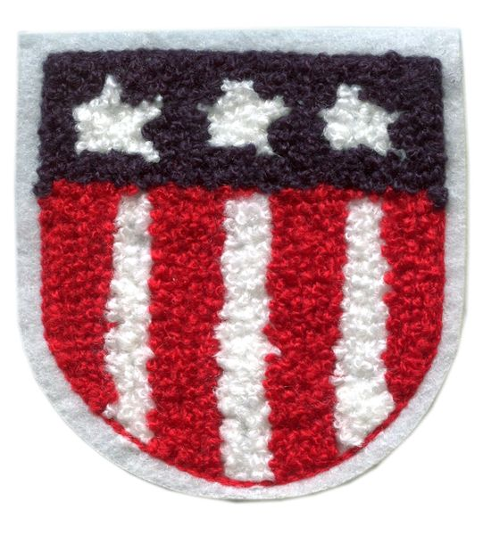 American Patriotic USA Chenille Patch (8cm x 8cm)