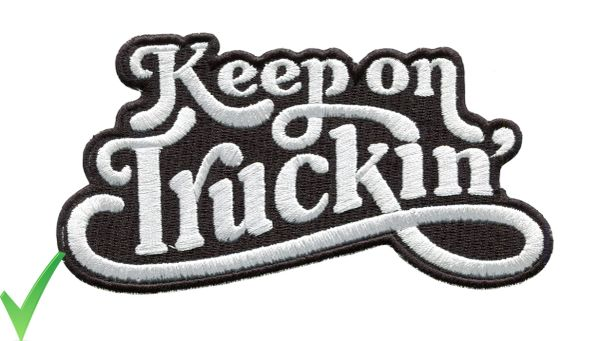 Keep on Truckin' Script Vintage Style 70's Patch 13cm x 7cm 5 Colors Inside