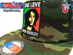 "smartpatches ""Bob Marley"" Rasta Vintage Style Trucker Hat (Camo)"