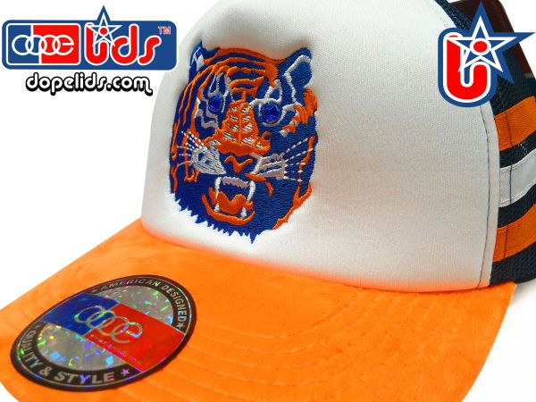 "smartpatches ""Eyes of the Tiger"" Rhinestone Bling Trucker Hat"