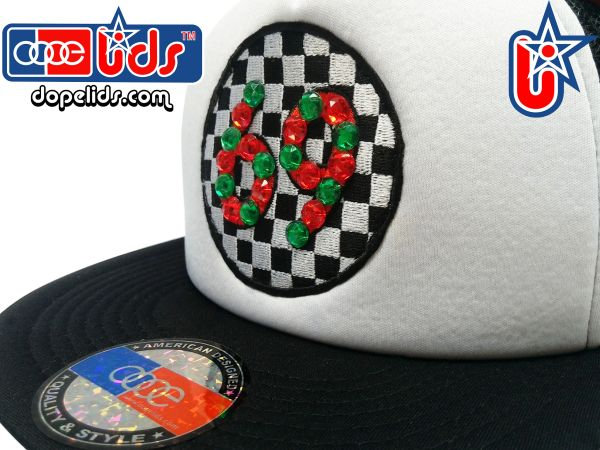 "smartpatches ""Hot 69"" Rhinestone Bling Trucker Hat"
