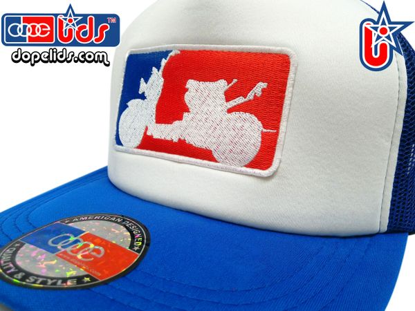"""smartpatches Truckers """"Major League Ruckus"""" Trucker Hat by dopelids headwear"""