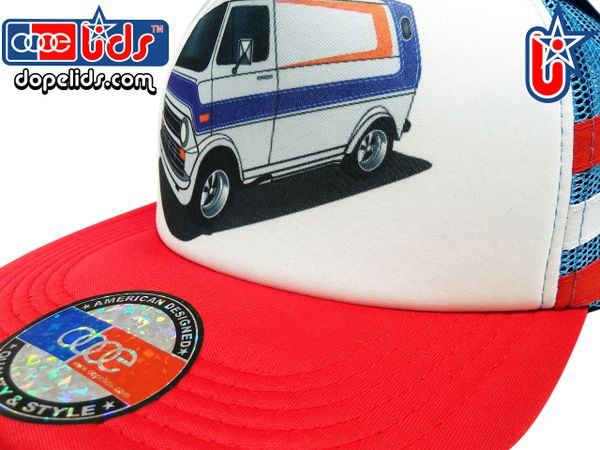 smARTpatches Truckers 79eighty Custom Van Vintage Style Trucker Hat