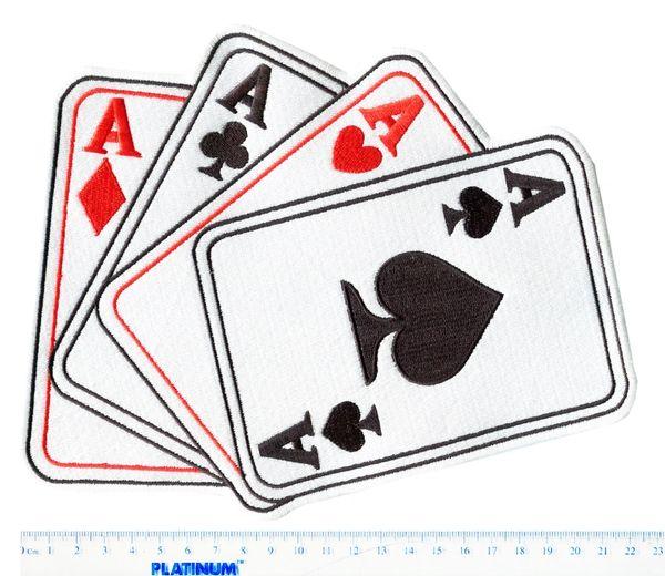 ACES Patch XL 4 ACES Poker 24cm x 18cm