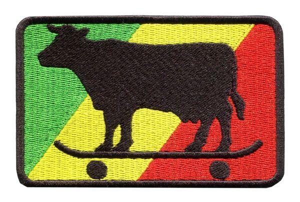 Rasta Skater Cow Skater Patch 9.5cm x 6.5cm