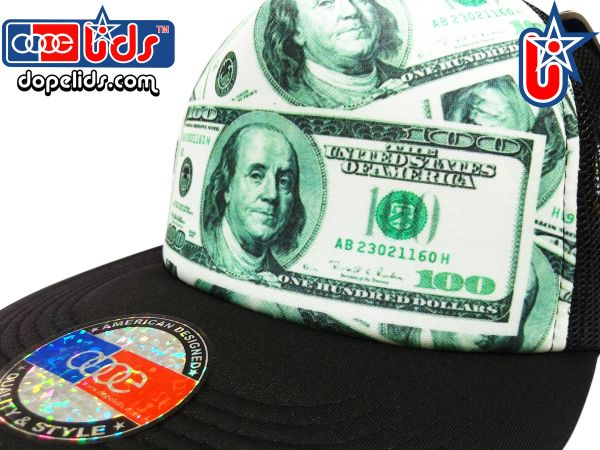 smARTpatches Truckers 79seventy $100 Bill Money Trucker Hat
