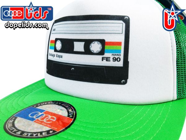 smARTpatches Truckers 79seventy 80's Cassette Tape Trucker Hat
