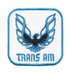 Vintage Style Trans Am Patch 8cm x 8cm Different Colors Inside