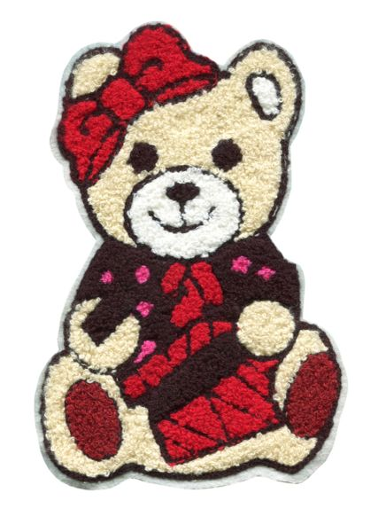 Extra Large Chenille Christmas Teddy Bear with Gift Patch (21cm)