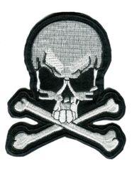 Skull Biker Patch 8cm