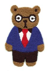 Extra Large Chenille Teddy Bear Patch (22.5cm)