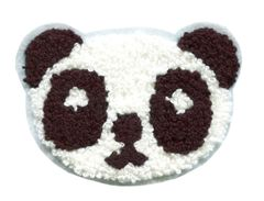 Panda Bear Patch Chenille 10cm