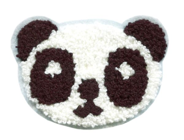 Panda Bear Patch Chenille 10cm