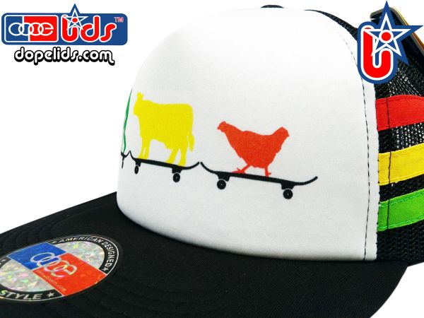 smARTpatches Truckers Rasta Animals Skater Trucker Hat