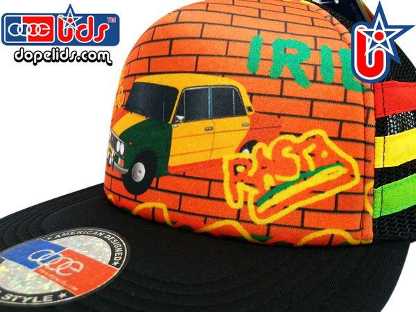 smARTpatches Truckers Rasta Lada Graffiti Skater Trucker Hat