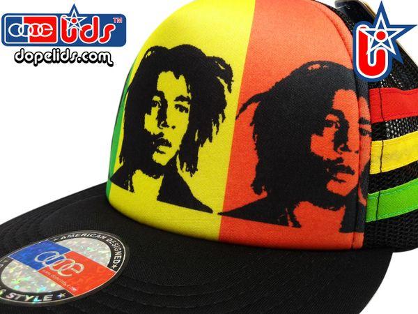 smARTpatches Truckers Rasta Bob Marley Reggae Skater Trucker Hat