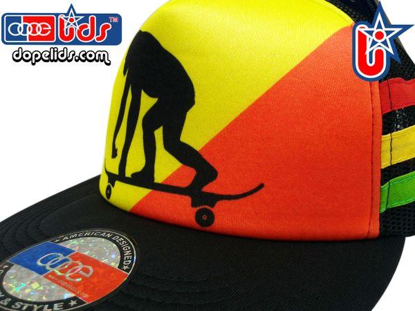 smARTpatches Truckers Rasta Skater Gorilla Reggae Skater Trucker Hat