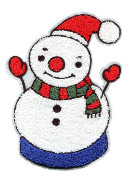 Snowman Patch Christmas Extra Large XXL 23cm