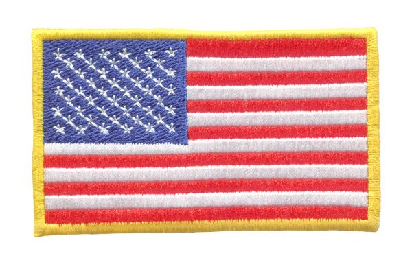 USA American Flag Patch 10cm x 6.5cm