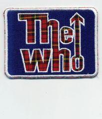"Vintage Style Tartan ""The Who"" Rock Patch 8.5cm x 6.5cm"