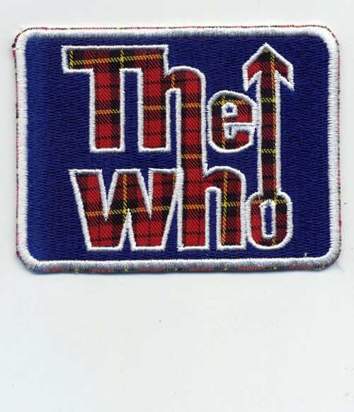 "Vintage Style Tartan ""The Who"" Rock Patch 8.5cm x 6.5cm"