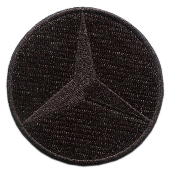 Mercedes Benz Patch Triple Black AMG 6.4cm (2.5 inch)