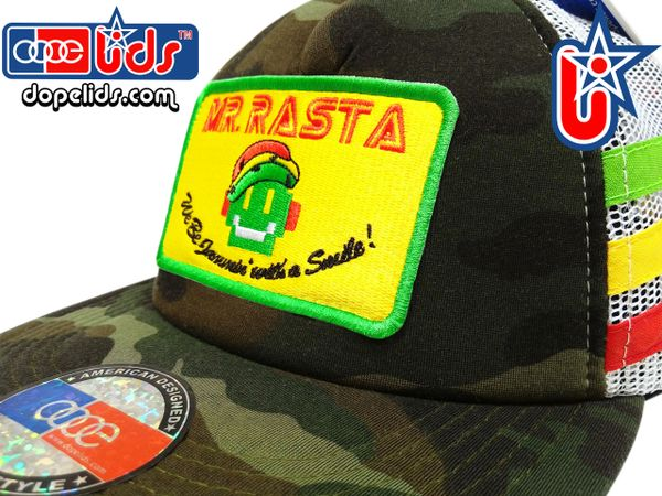 smARTpatches Truckers 89eighty Mr. Rasta Robot Vintage Style Trucker Hat