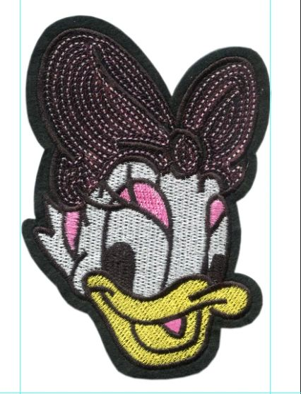Lady Duck with Sequins Patch (13.5cm)