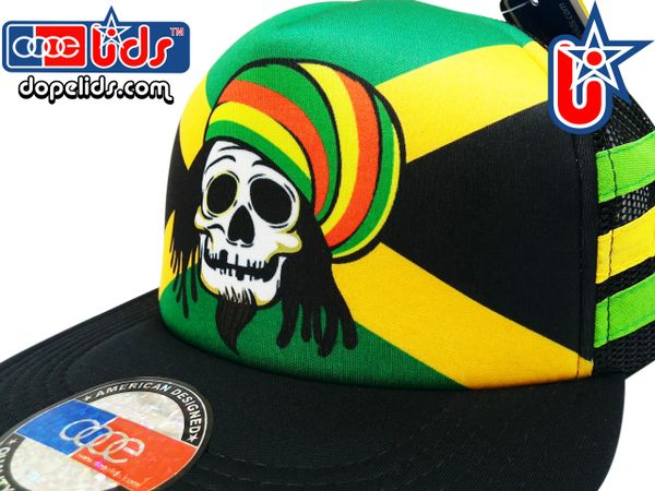 smARTpatches Truckers 79eighty Jamaica Rasta Skater Trucker Hat