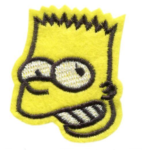 Bart Simpson Patch Vintage Style 6cm