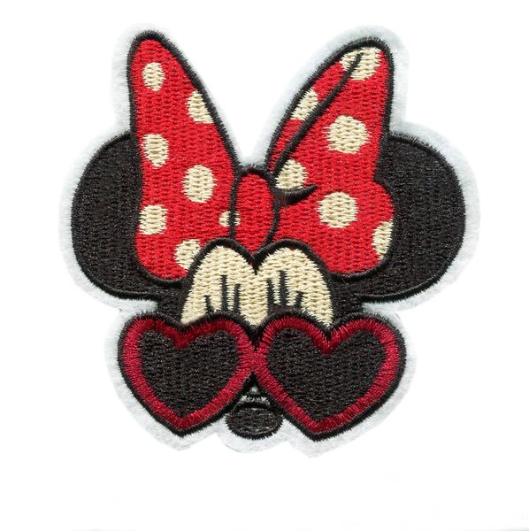 Minnie Mouse Patch with Sunglasses (9.5cm)